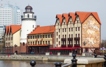 обоя калининград, города, - здания,  дома, рыбная, деревня