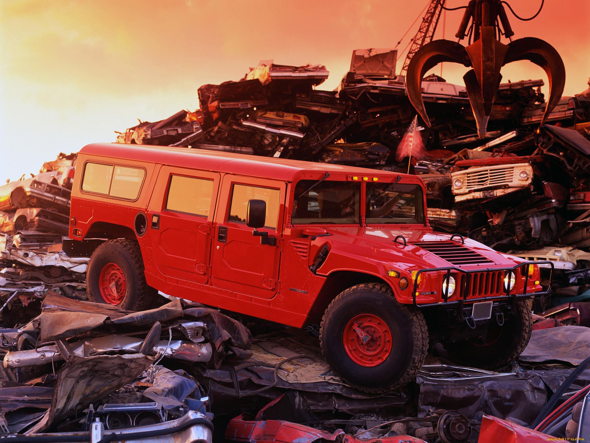 красный автомобиль джип HUMMER H1  № 344685  скачать