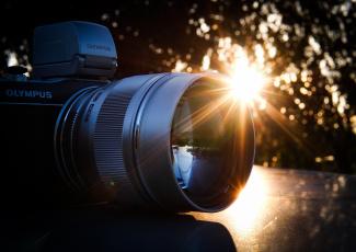 обоя бренды, olympus, олимпус, фотоаппарат, камера, солнце