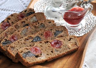 Картинка еда пироги джем сухофрукты хлеб