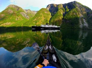 обоя корабли, теплоходы, горы, фьорд, корабль, природа, норвегия
