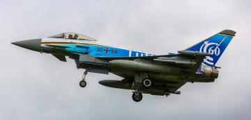 обоя eurofighter typhoon, авиация, боевые самолёты, истребитель