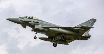 обоя euro fighter typhoon, авиация, боевые самолёты, истребитель