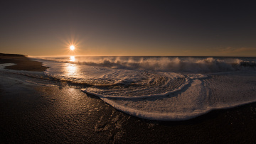 обоя природа, побережье, рассвет