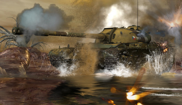 обоя 3д графика, армия , military, танк