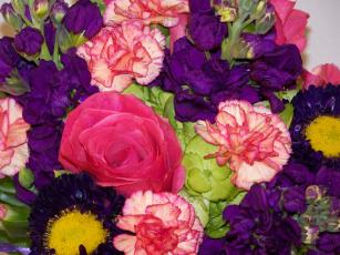 Картинка цветы букеты композиции гвоздики букет розы