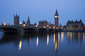 Картинка города лондон великобритания сумерки england london westminster