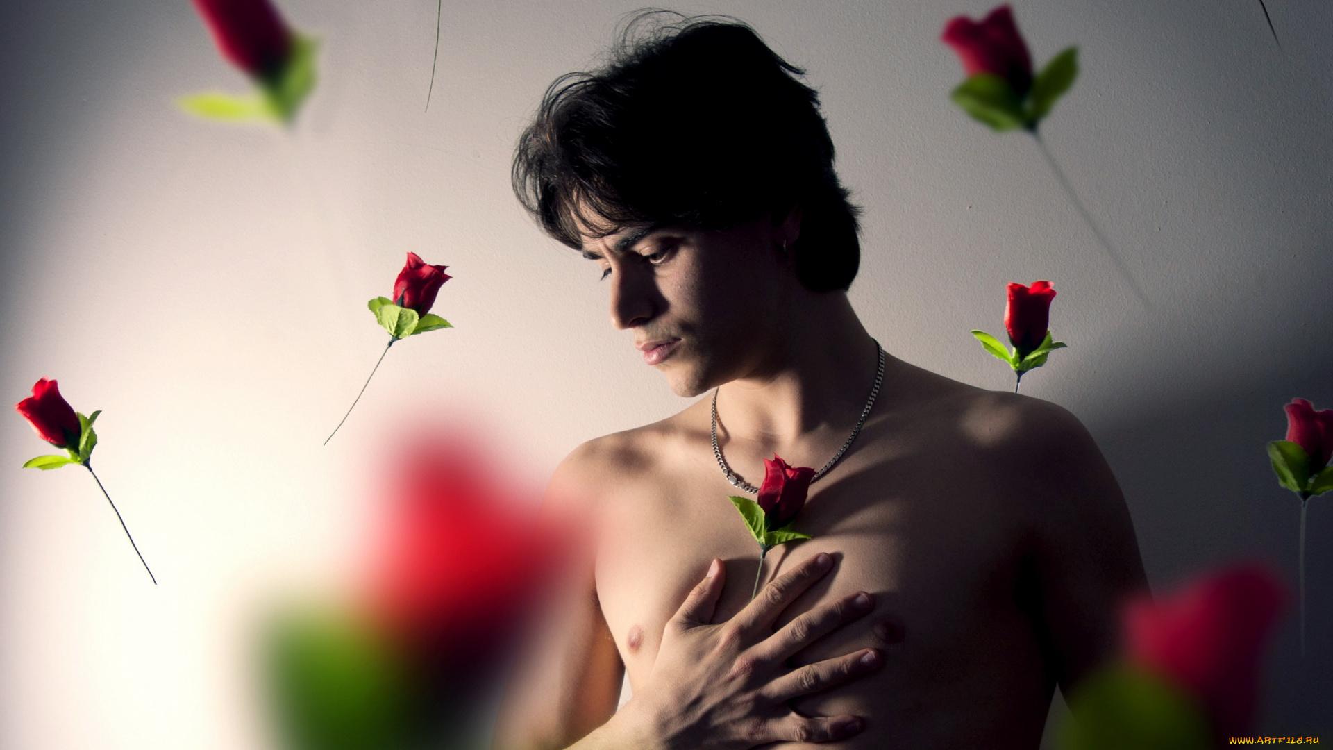 Картинки на телефон с парнями и розами
