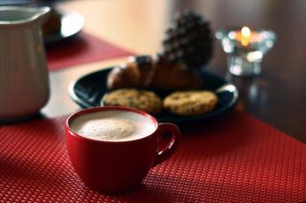 обоя еда, кофе,  кофейные зёрна, капучино, пенка