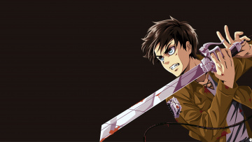 обоя аниме, shingeki no kyojin, ken, survivor, eren, sword, anime, attack, on, titan, shingeki, no, kyojin, manga, japansese, giant, blade