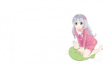Картинка аниме eromanga-sensei фон взгляд девушка