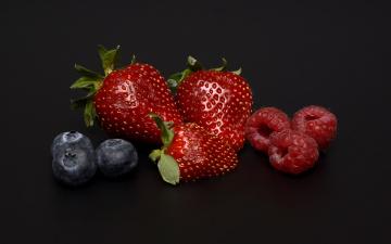 обоя еда, фрукты,  ягоды, черника, малина, клубника, ягоды