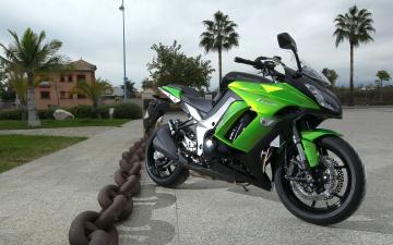 Картинка kawasaki z1000sx мотоциклы кавасаки резина мото з1000 сх пальмы