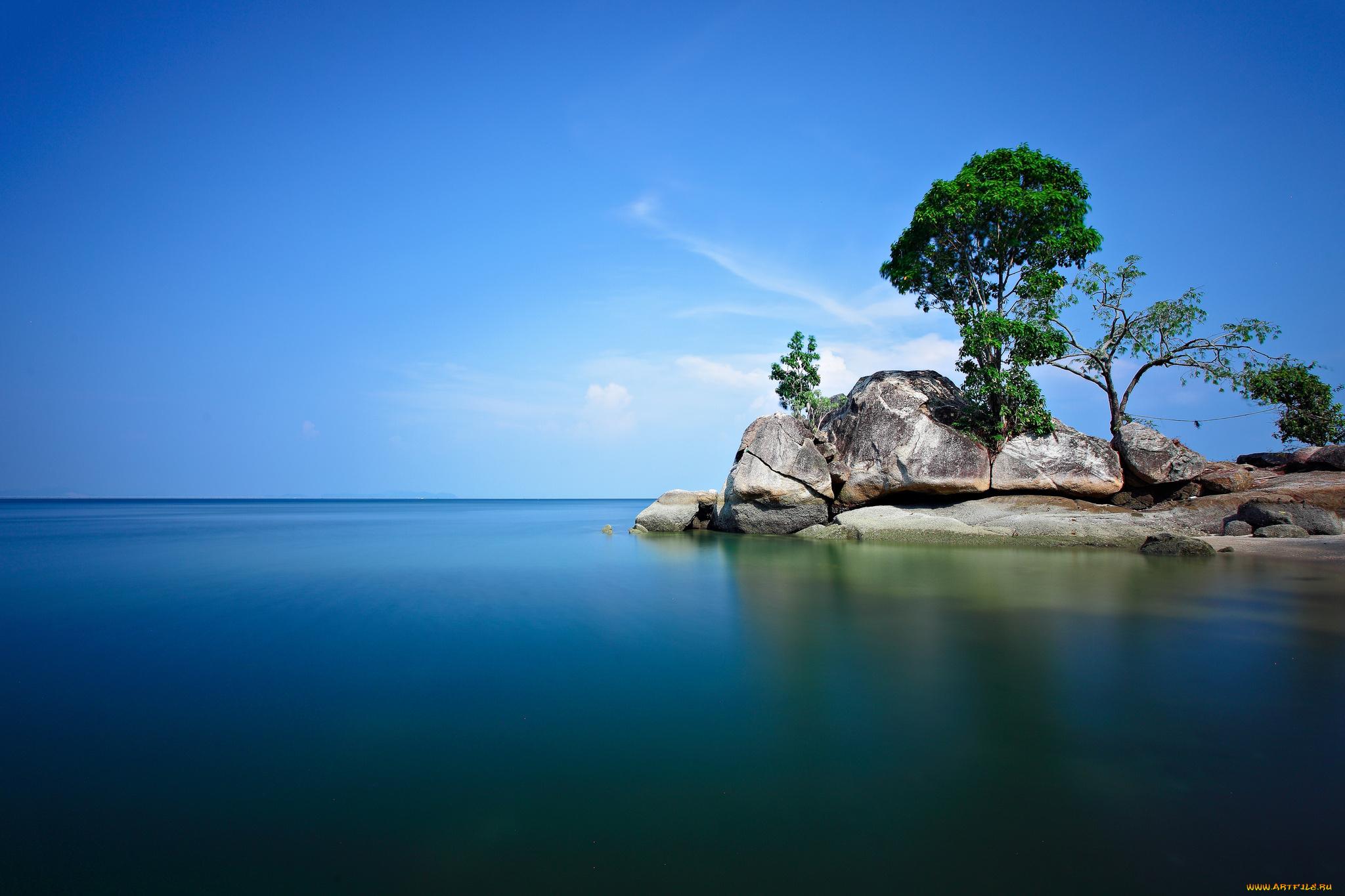 море остров небо камни  № 1034133 загрузить