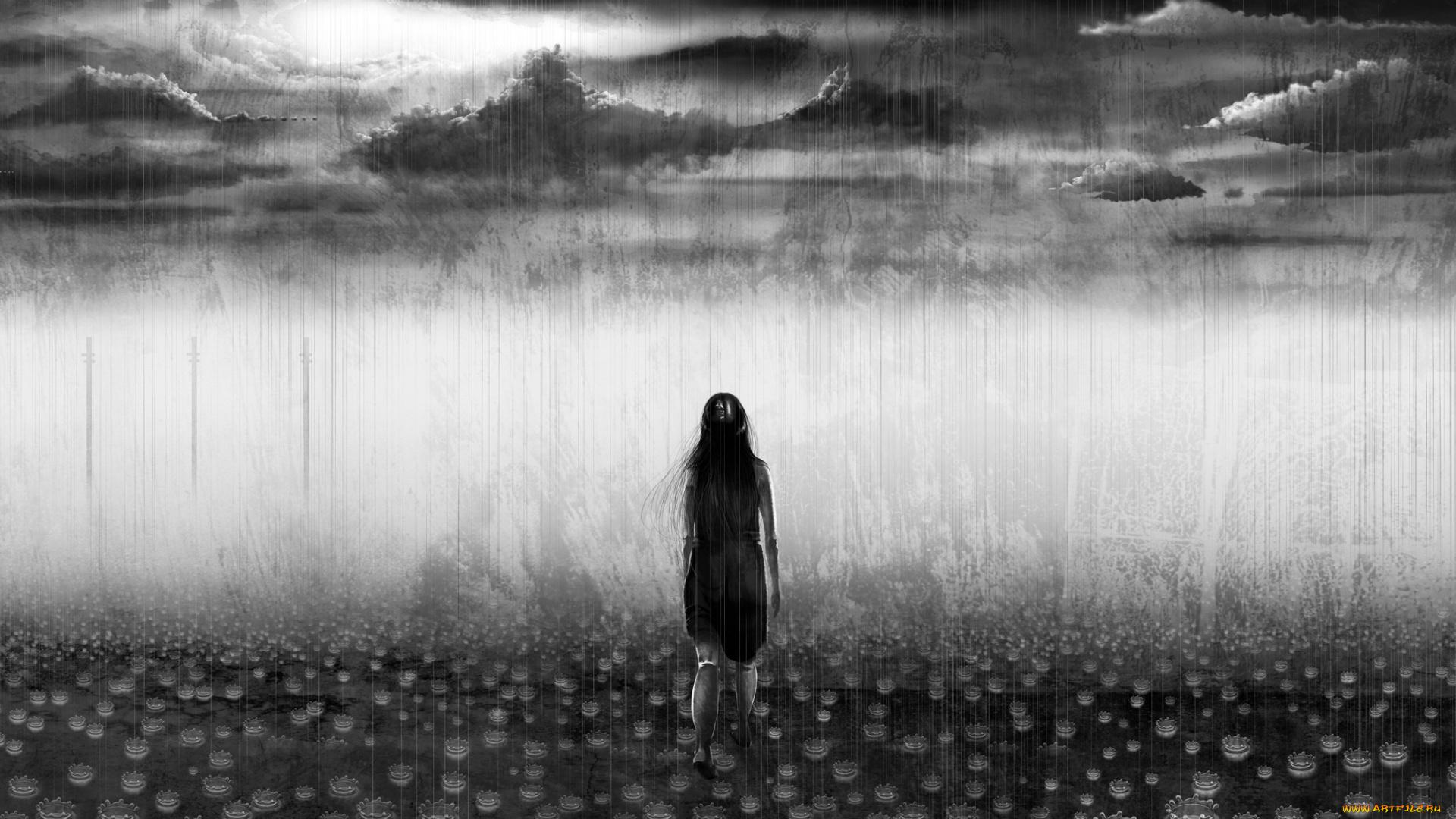 остальном все одиночество черно белые картинки арт белый