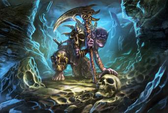 обоя фэнтези, существа, существо, пещера, оружие, монстр