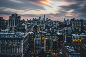 обоя города, нью-йорк , сша, нью, -, йорк, город, ночь, огни, небоскребы, new, york, city