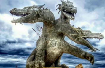 обоя разное, садовые и парковые скульптуры, скульптура, дракон