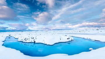 обоя природа, зима, снег, облака