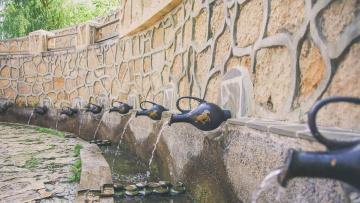 обоя разное, садовые и парковые скульптуры, кувшин, вода, фонтан