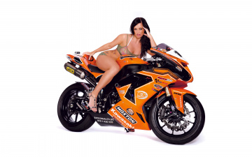 обоя moto girl 584, мотоциклы, мото с девушкой, moto, girls