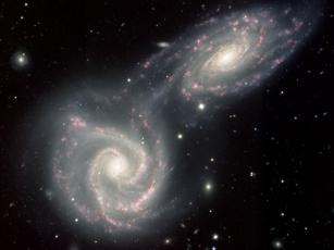 Картинка ngc 5426 5427 космос галактики туманности