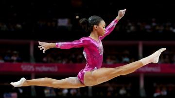 Картинка gabrielle douglas спорт гимнастика олимпиада выступление гимнастка
