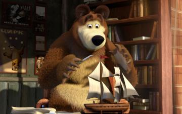 Картинка мультфильмы маша медведь