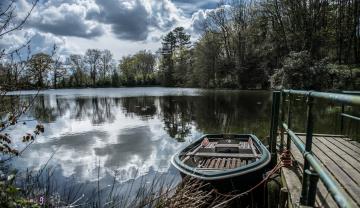 Картинка корабли лодки +шлюпки река лес