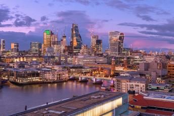 обоя london`s cityscape, города, лондон , великобритания, панорама