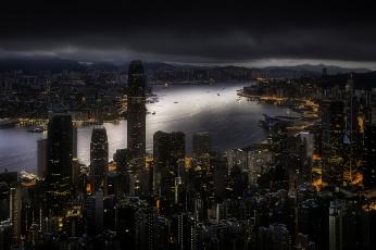 обоя hong kong, города, гонконг , китай, панорама