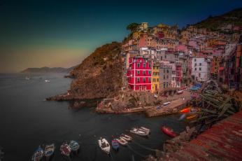 обоя liguria,  italy, города, - панорамы, побережье