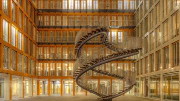 обоя интерьер, холлы,  лестницы,  корридоры, лестница