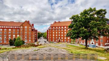 обоя finland helsinki, календари, города, дерево, облака, здание, 2018