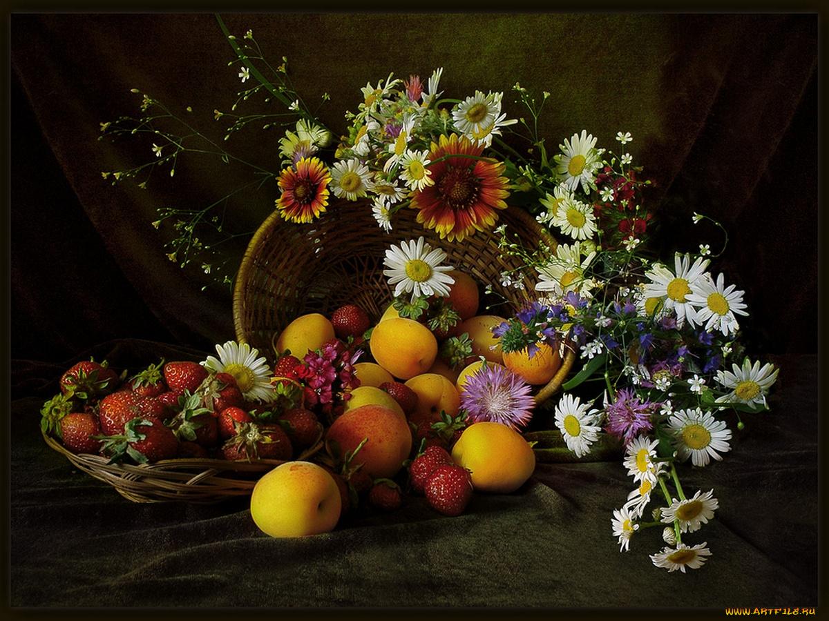 Фото и картинки натюрморты с цветами
