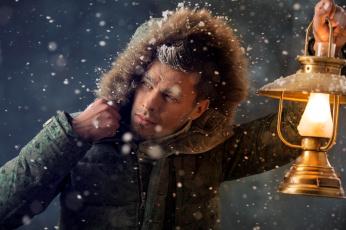 обоя мужчины, - unsort, куртка, снег, фонарь