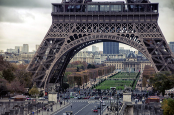 обоя города, париж , франция, башня, эйфелева