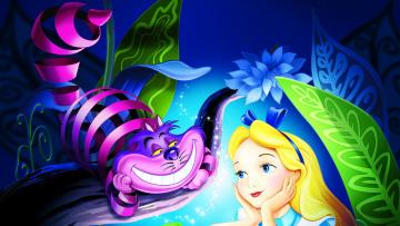 обоя alice in wonderland, мультфильмы, персонажи