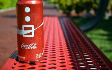 обоя бренды, coca-cola, банка