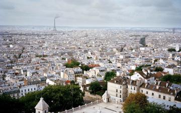 обоя города, париж , франция, панорама