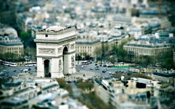 обоя города, париж , франция, триумфальная, арка