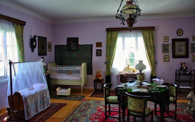 Обои картинки фото интерьер, детская комната, кровать, игрушки, колыбель
