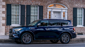 обоя infiniti qx80 2018, автомобили, infiniti, 2018, blue, hermosa, color, qx80