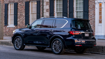 обоя infiniti qx80 2018, автомобили, infiniti, blue, 2018, hermosa, color, qx80