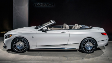 обоя maybach- mercedes s650 cabriolet 2018, автомобили, mercedes-benz, белый, 2018, cabriolet, s650, maybach-, mercedes