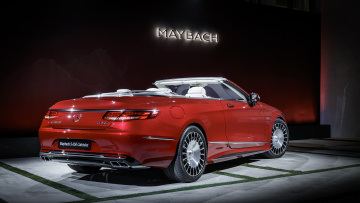 обоя maybach-mercedes s650 cabriolet 2018, автомобили, mercedes-benz, красный, 2018, cabriolet, s650, maybach-mercedes