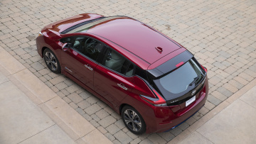 обоя nissan leaf 2018, автомобили, nissan, datsun, 2018, leaf