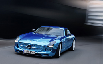 обоя mercedes-benz sls amg coupe electric car 2014, автомобили, mercedes-benz, blue, 2014, car, electric, coupe, sls, amg