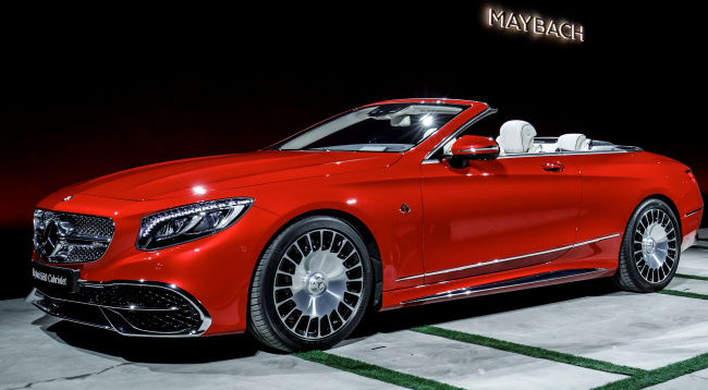 Обои картинки фото maybach-mercedes s650 cabriolet 2018, автомобили, mercedes-benz, красный, 2018, cabriolet, s650, maybach-mercedes