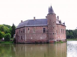 Картинка castle van horst belgia города дворцы замки крепости река замок